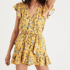 AE Yellow Floral Romper